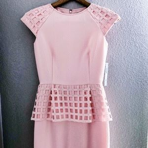 Baby pink lattice dress